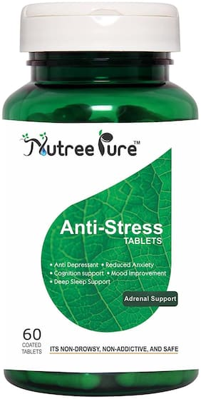 Nutree Pure Anti Stress Tablets - 60 tablets Pack of 3