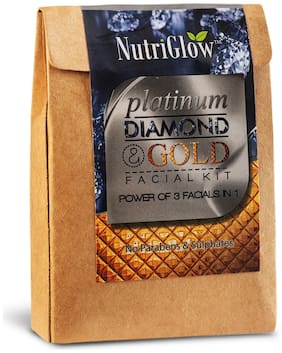 Nutriglow Platinum Diamond And Gold Facial Kit 50 g Pack Of 1
