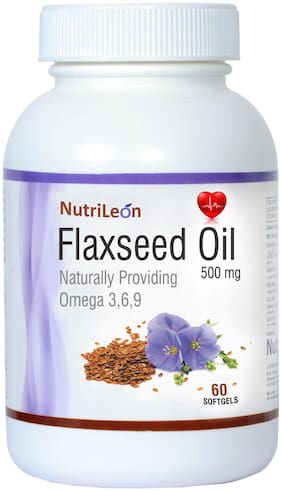 NutriLeon Flaxseed Oil Omega 369 cold pressed 500mg 60 capsules
