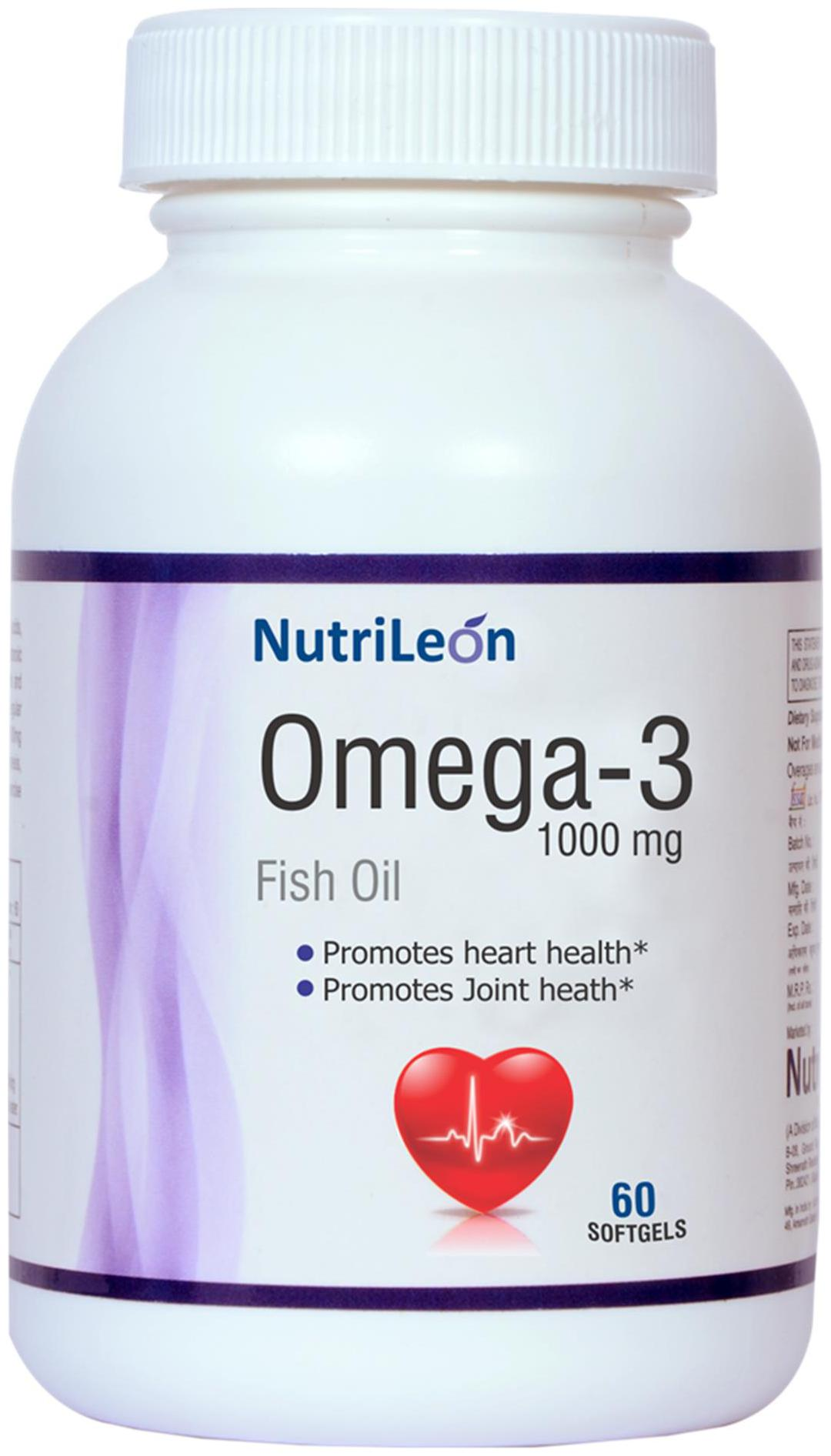 NutriLeon Omega 3 Fish Oil 1000mg 60 capsules