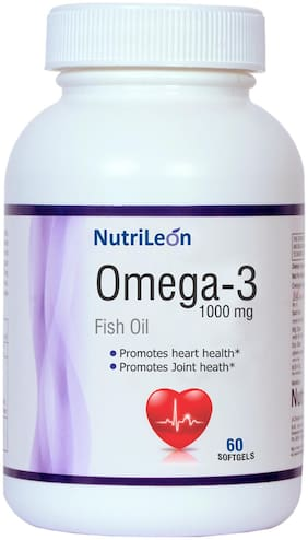 NutriLeon Omega 3 Fish Oil 1000mg 60 capsules