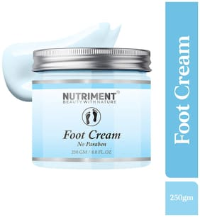 Nutriment Foot Cream for Moisturizing Glowing Skin, Paraben Free 250g Suitable for all skin types