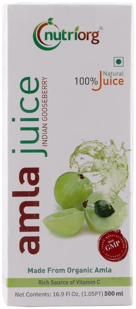 Nutriorg Amla Juice 500 ml 100% Pure Juice (Made For Organic Amla)