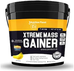 Nutrition Planet Xtreme Mass Gainer With Added DigeZyme Banana 5 kg