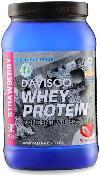 Nutrition Planet Davisco Whey Protein With Added DigeZyme Strawberry 2 lbs