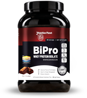 Nutrition Planet BiPro Whey Protein Isolate With Added DigeZyme Chocolate 2 lbs