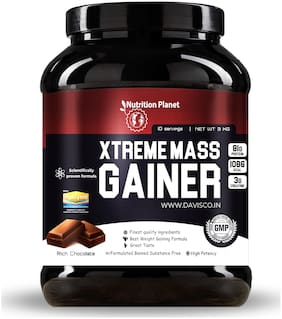 Nutrition Planet Xtreme Mass Gainer With Added DigeZyme Chocolate 3 kg