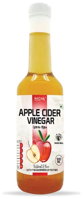 NutroVally Apple Cider Vinegar for Weight Loss with Mother of Vinegar 500 ml ( Pack of 1 )