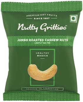 Nutty Gritties Roasted Cashew Nuts  Lightly Salted(Pack Of 8 - 18G Each)  144G