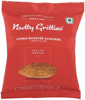 Nutty Gritties Roasted Almonds  Lightly Salted(Pack Of 7 - 21Grams Each)  147G