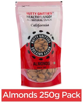 Nutty Gritties Premium California Almonds 250 G 1Pc
