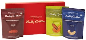 Nutty Gritties Happiness Snack Gift Box 564 gm (Barbeque Almonds Southern Pepper Cashew Nuts And Thai Chilli Blend - 188 gm Each)