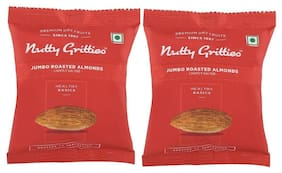 Nutty Gritties Roasted Almonds Lightly Salted-(50Grams Each)Pack Of 2 100Grams