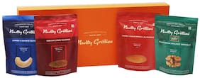 Nutty Gritties Gourmet A Dry Fruits Gift Box - 892 gm (Jumbo - California Almonds Cashewnuts Walnuts And Long Raisins - 223 gm Each)