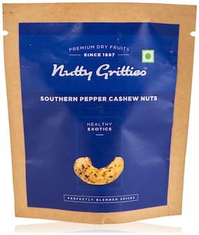 Nutty Gritties Southern Pepper Cashew Nuts (Pack Of 8 - 21G Each)  168G