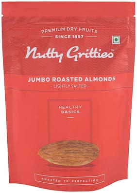 Nutty Gritties Jumbo Roasted Almonds  Lightly Salted  194G