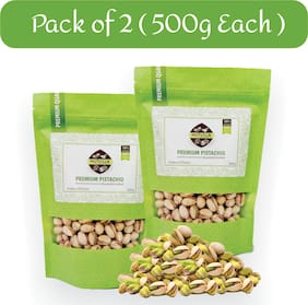 Nutvilla Pistachio Roasted and Salted (500g each ) Pack of 2 Large Size