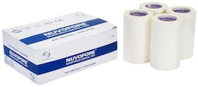Nuvo Medsurg  Nuvopore Microporous Surgical Tape 75 Mm X 9.1 Mtr (Pack of 4 Rolls)