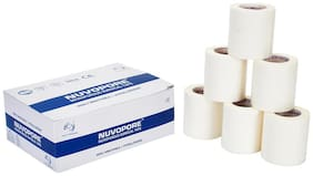Nuvo Medsurg Nuvopore Microporous Surgical Tape 50 Mm X 9.1 Mtr (Pack of 6 Rolls)