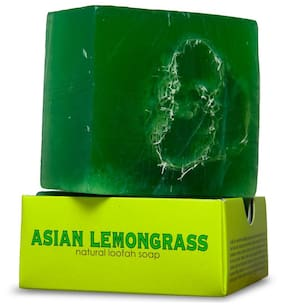 Nyassa Asian Lemongrass Handmade Loofah Soap 150g
