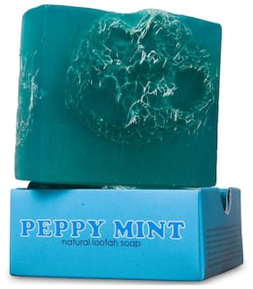 Nyassa Peppy Mint Handmade Loofah Soap 150g