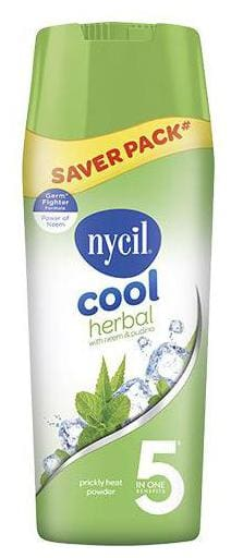 Nycil Prickly Heat Powder - Cool Herbal With Neem & Pudina 400 g