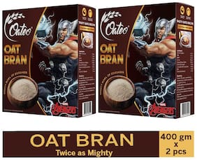 Oateo Oat Bran Made From 100% Whole Grain,High In Fibre And Protein,400g (Pack Of 2)