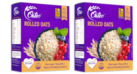 Oateo Rolled Oats 100% Whole Grain,High In Fibre And Protein,500g (Pack Of 2)