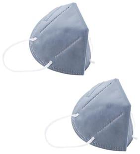 Ocean N95 Face Mask For Men & Women  Pack Of 2 (Grey)