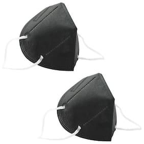 Ocean N95 Face Mask For Men & Women  Pack Of 2 (Black)