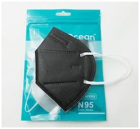 Ocean N95 Face Mask For Men & Women  Pack Of 1 (Black)