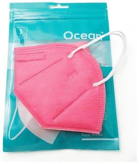 Ocean N95 Face Mask For Men & Women  Pack Of 1 (Pink)