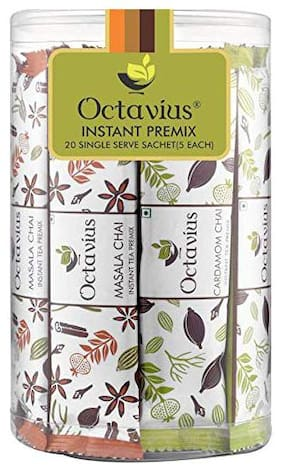 Octavius Assorted Ready Tea and Coffee ( 4 in 1 ) Variant | Refill Pack - 20 Sachets