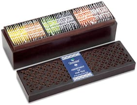Octavius Assortment of Fine Black & Green Teas in Handcrafted Carved Wooden Gift Box - 60 Teabags