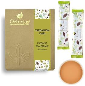 Octavius Cardamom Chai Ready Tea Economy Pack - 50 Sachets