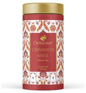 Octavius Cinnamon Anise Whole Leaf Green Tea Tin