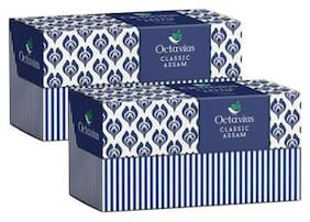 Octavius Classic Assam Black Tea - 30 Tea Bags (25 + 5 Free) (Pack of 2) Plus 2 Exotic Free Samplers