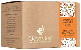 Octavius Indian Masala Ready Tea | Instant Tea Premix | Enjoy Easy To Prepare On The Go Tea, Without Any Mess | Perfect For Work, Travel, Home - 15 Sachets