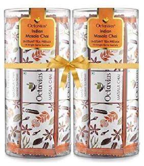 Octavius Indian Masala Chai Ready Tea Refill Pack - 10 Sachets ( Pack of 2 )