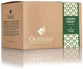 Octavius Lemon Honey Green Tea | Refreshing Calorie Free Healthy Brew | Rich in Vitamin C | High Antioxidant & Anti-Inflammatory Properties | Naturally Sweet & Tangy | Slimming Detox Tea | 50 Teabags