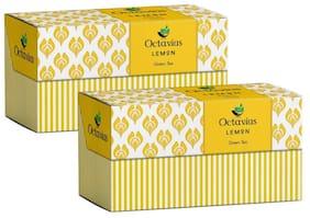 Octavius Lemon Green Tea - 30 Teabags (Pack of 2)