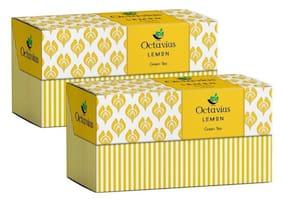 Octavius Lemon Green Tea - 30 Tea Bags (25 + 5 Free) (Pack of 2) Plus 2 Exotic Free Samplers