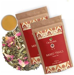 Octavius Mixed Trails Green Tea - 100 g - Low Caffeine;Rich in Antioxidant Detox Tea (Pack of 2)