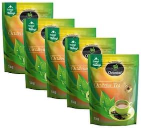 Octavius Premium CTC Tea - Strong & Rich Aroma (1kg each) Pack of 5