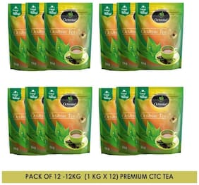 Octavius Premium CTC Tea - Strong & Rich Aroma (1kg each) Pack of 12