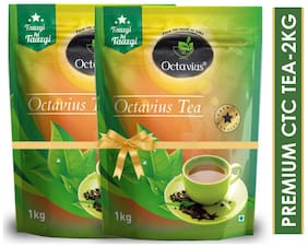 Octavius Premium CTC Tea - Strong & Rich Aroma (1kg each) Pack of 2