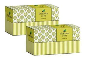 Octavius Pure Green Tea - 30 Tea Bags (25 + 5 Free) (Pack of 2) Plus 2 Exotic Free Samplers