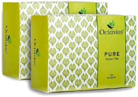 Octavius Pure Green Tea - 100 Teabags (Pack of 2)