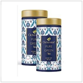 Octavius Pure Green Tea Loose Leaf- 100 Gms (50 Cups) | Superior Loose leaf Flavour Experience | High Anti-Oxidants | Detox Tea | Low Caffeine Slimming Tea