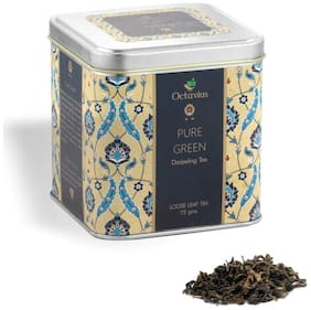 Octavius  Pure Green Whole Leaf Tea| High Antioxidants | Detox Tea | Low Caffeine Slimming Tea | Subtle, Smooth, Delicate & Virtually Colourless Brew | Perfect For Gifting - 75 g